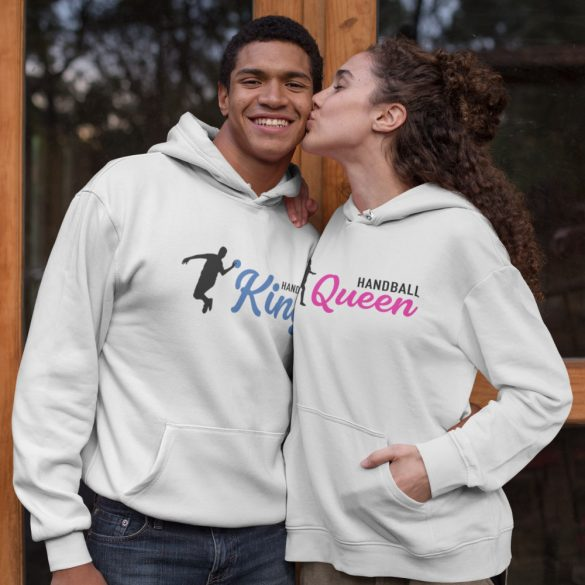 Handball King and Queen páros pulóver