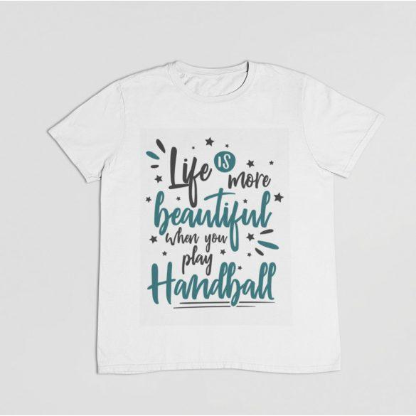 Life is more beautiful férfi póló