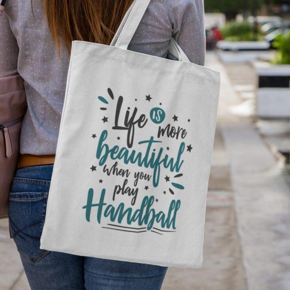 Life is more beautiful vászontáska