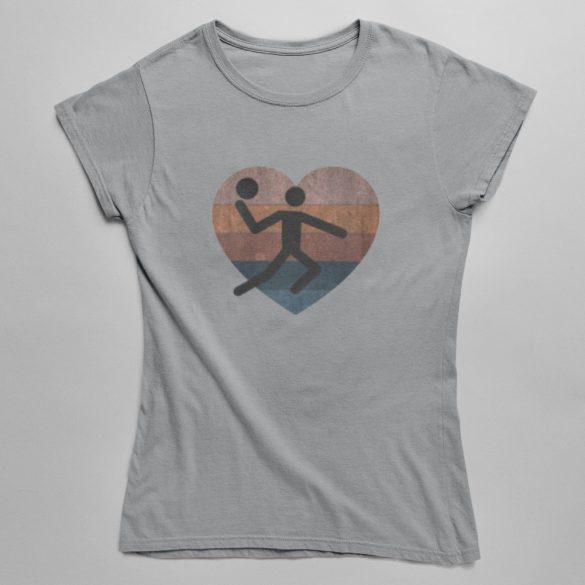Retró kézilabdázó női póló